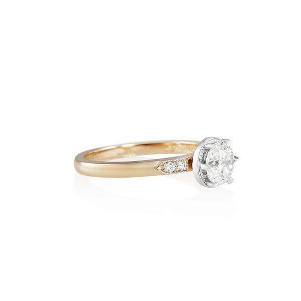 Gabi Rose Gold and Platinum Diamond Engagement Ring-2153