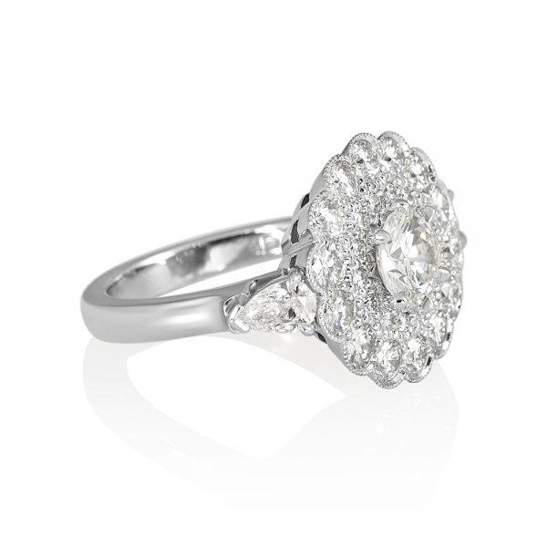Helen Diamond Cluster Engagement Ring-2144