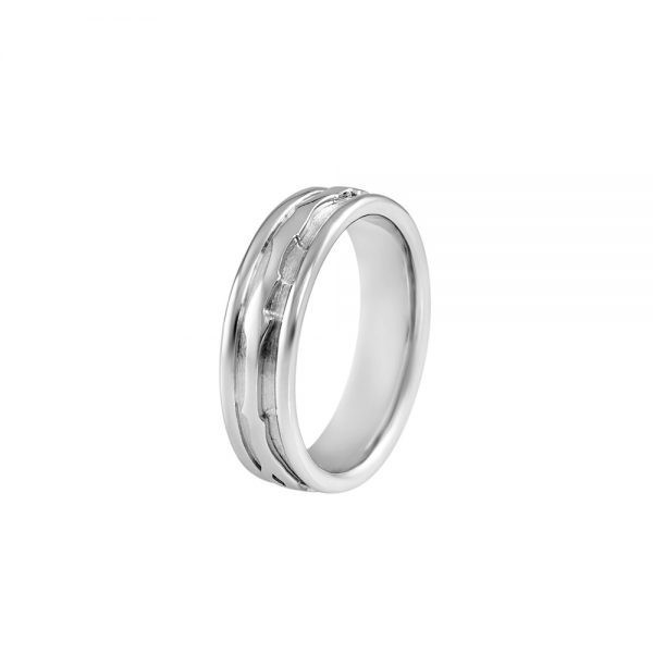 Platinum Men's Branch Ring for Alex-2208