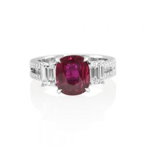 Ruby and Diamond Engagement Ring for Marcia-0