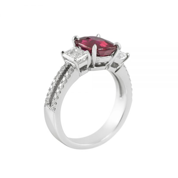 Ruby and Diamond Engagement Ring for Marcia-2213
