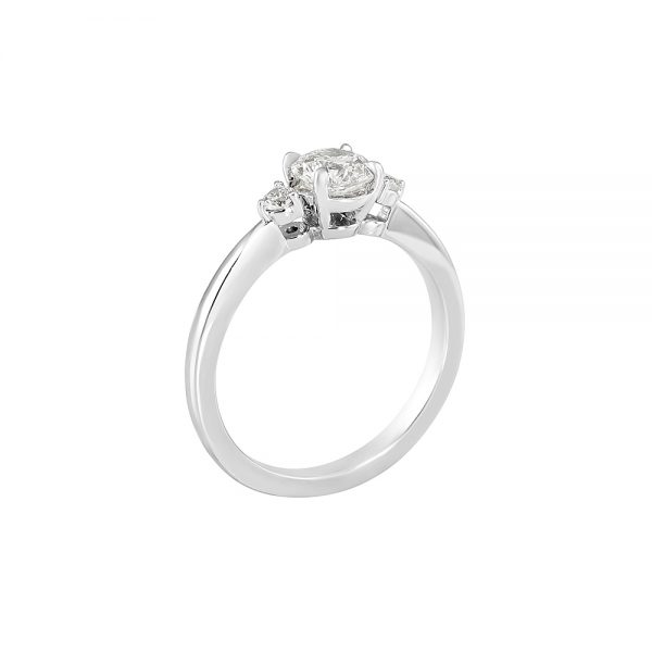Cassandra Three Stone Diamond Engagement Ring-2171