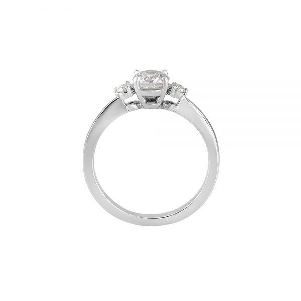 Cassandra Three Stone Diamond Engagement Ring-2170