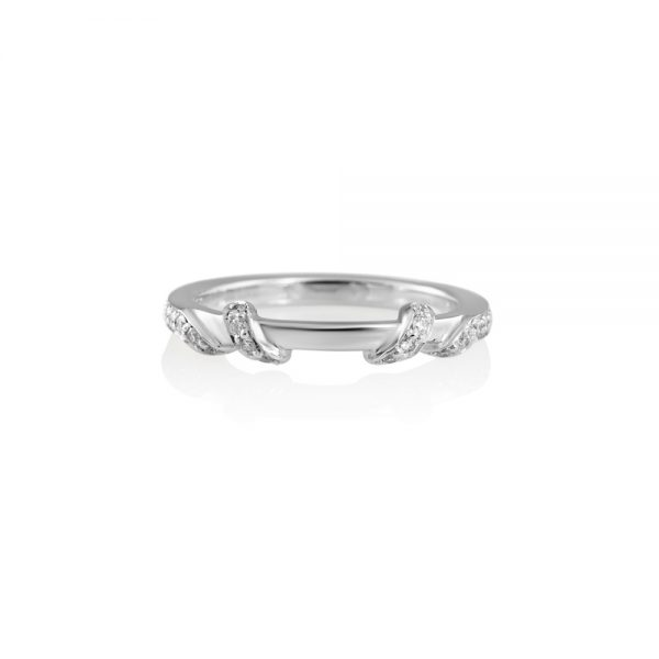 Hand Carved Wrap Around Diamond Band for Kate-0