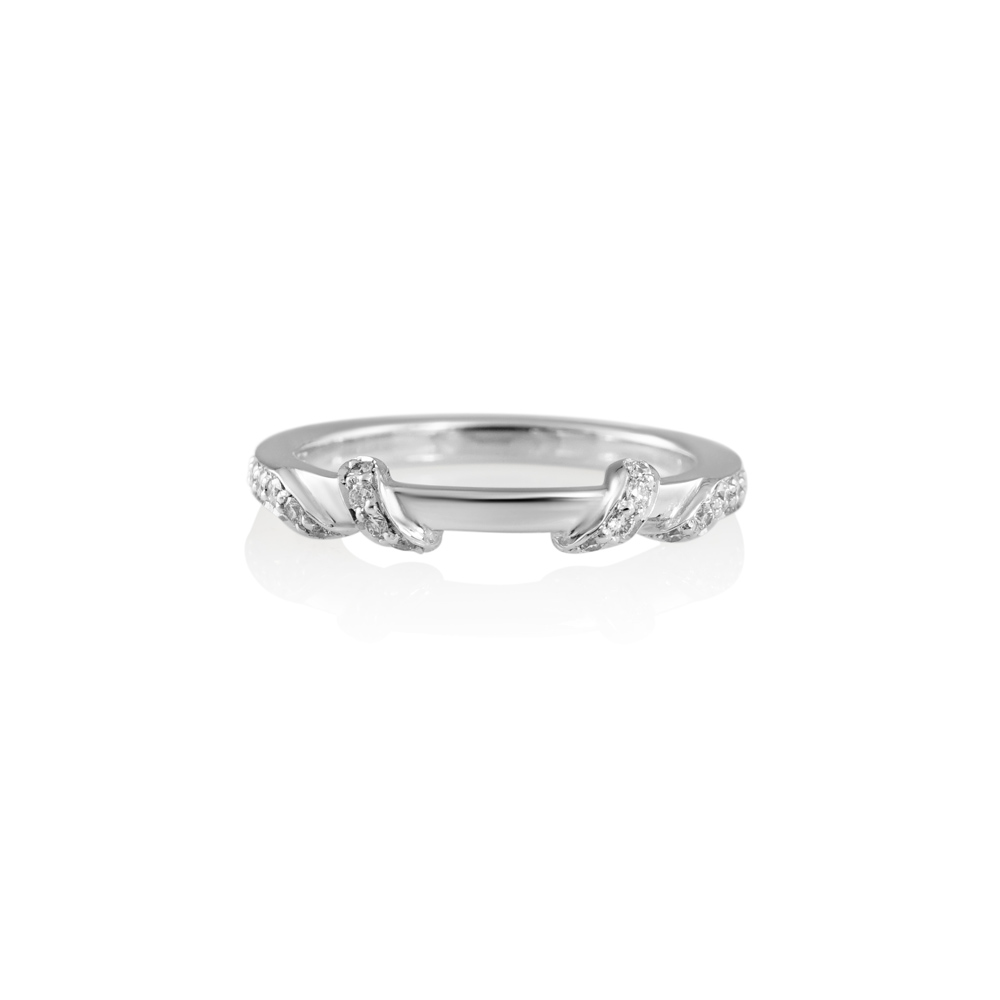 Cynthia Britt Hand Carved Wrap Around Diamond Band for Kate