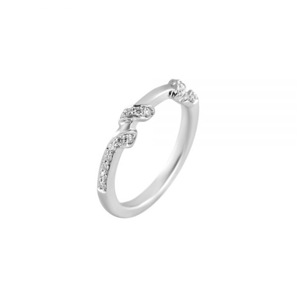 Hand Carved Wrap Around Diamond Band for Kate-2218