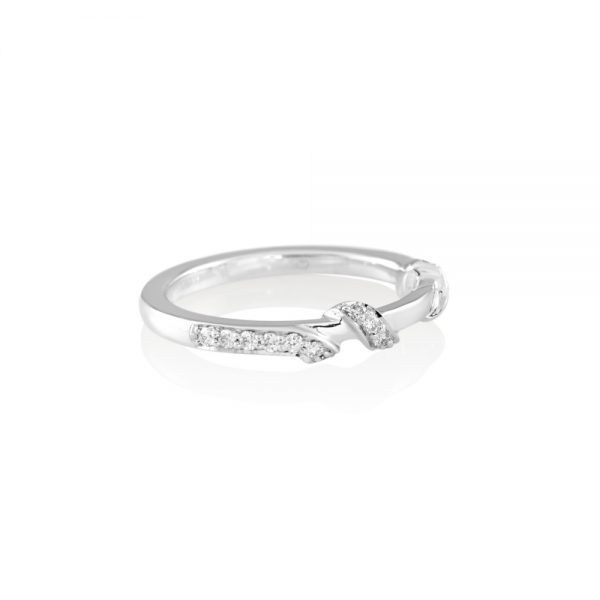 Hand Carved Wrap Around Diamond Band for Kate-2220