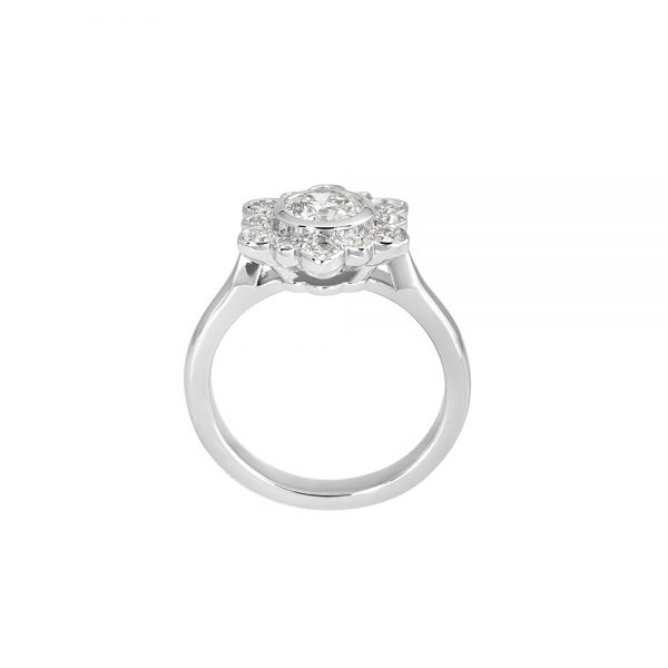 Jennifer Snowflake Shaped Diamond Engagement Ring-2082