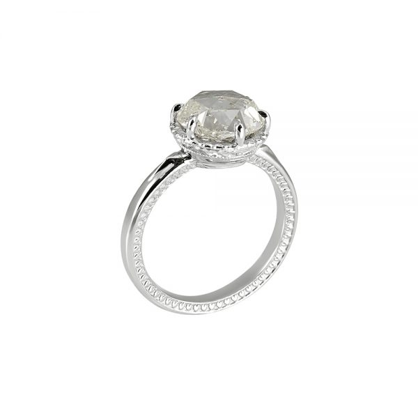 Lisa Rose Cut Engagement Ring-2118