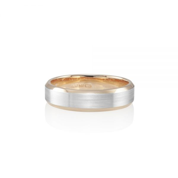 Men's Rose Gold and Platinum Wedding Band for Ashis-0