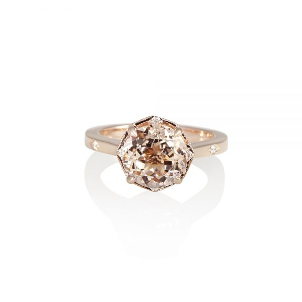 Morganite and Rose Gold Engagement Ring for Charlene-0
