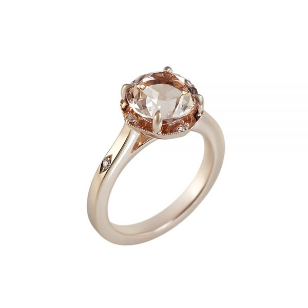 Morganite and Rose Gold Engagement Ring for Charlene-2179