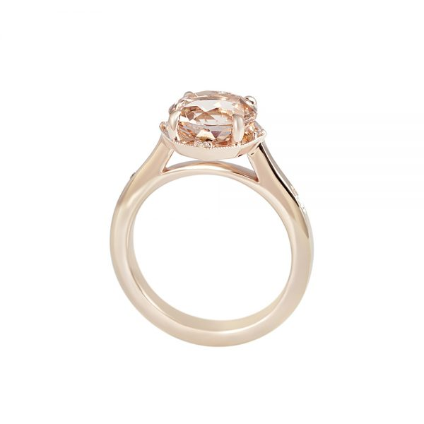 Morganite and Rose Gold Engagement Ring for Charlene-2178
