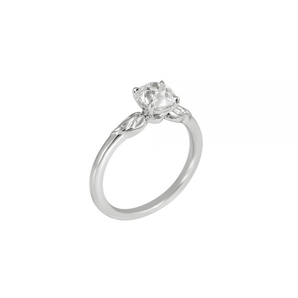 Reiko Solitaire Leaf Engagement Ring-2195