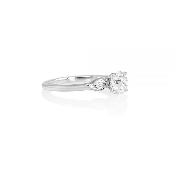 Reiko Solitaire Leaf Engagement Ring-2194