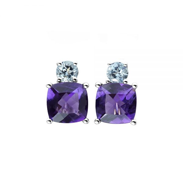 Amethyst and Aqua Earrings-0