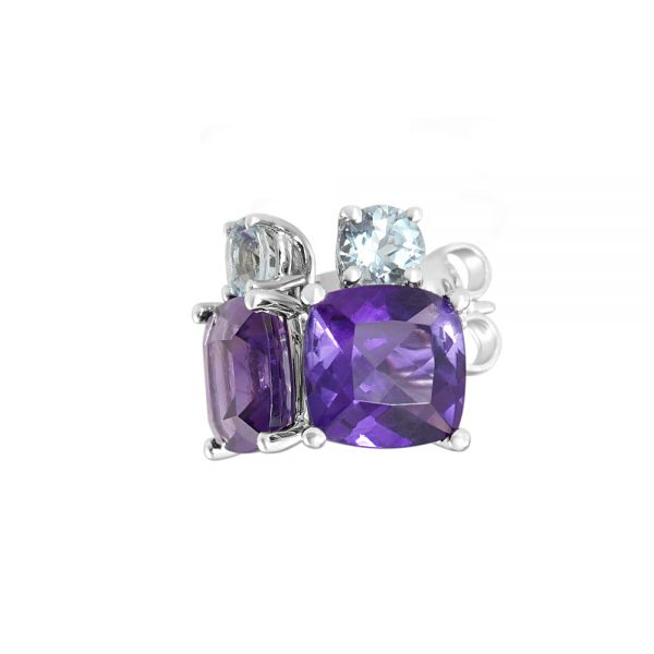 Amethyst and Aqua Earrings-2244