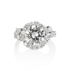 Courtney Round and Marquise Fantasy Diamond Ring-0