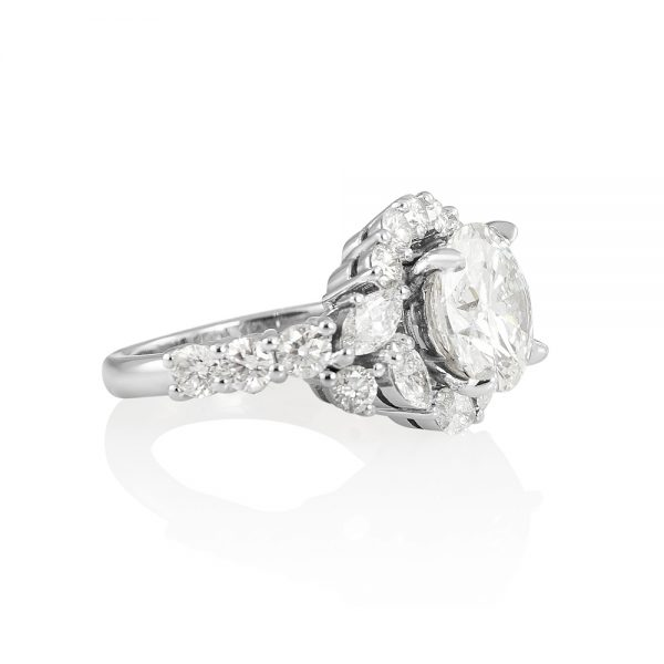 Courtney Round and Marquise Fantasy Diamond Ring-2230
