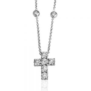 Diamond Cross Necklace-0