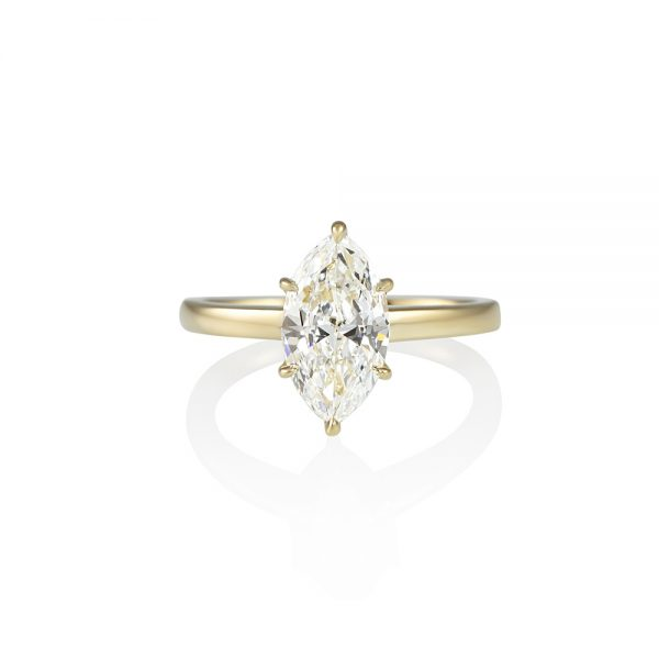 Marquise Solitaire Engagement Ring for Diana-0
