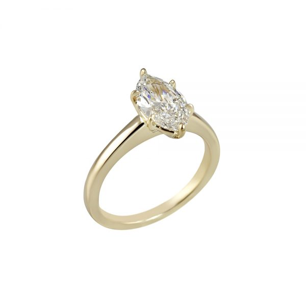 Marquise Solitaire Engagement Ring for Diana-2240
