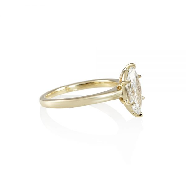 Marquise Solitaire Engagement Ring for Diana-2239