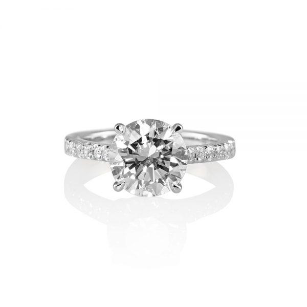 Namita Cathedral Setting Diamond Engagement Ring-0