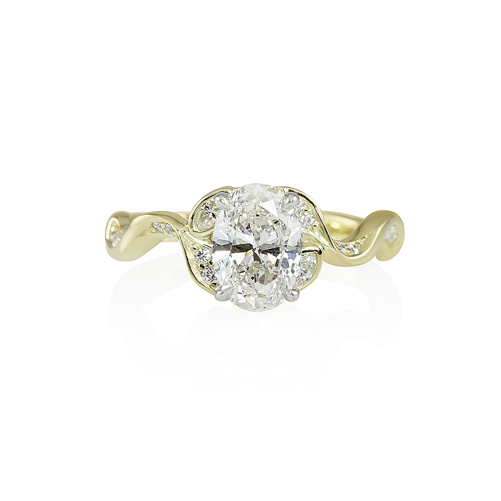 Vine Inspired Engagement Ring With Oval Diamond For Jamie