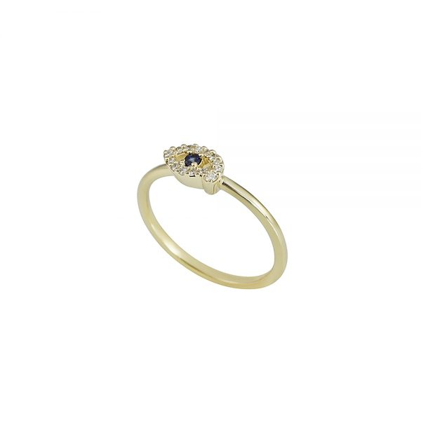 Diamond and Sapphire Eye Ring by Cynthia Britt-2288