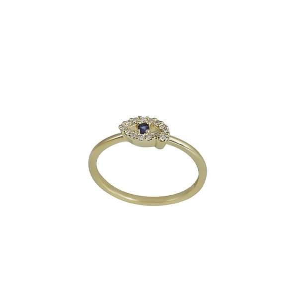 Diamond and Sapphire Eye Ring by Cynthia Britt-2287