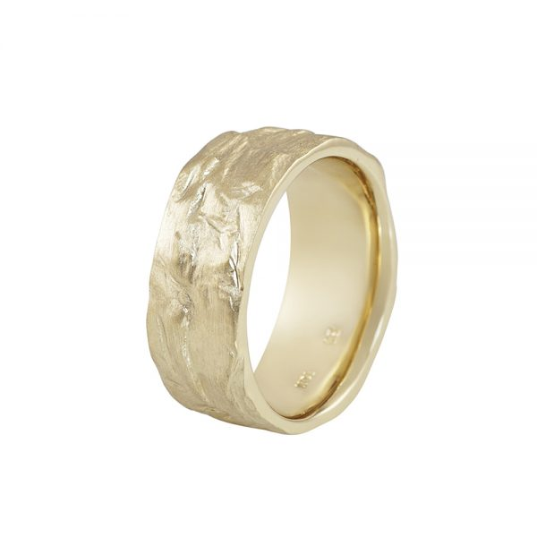 Yellow Gold Rock Ring for Andrew-2342