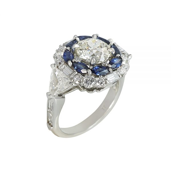 Exceptional Diamond Ring with Double Halo for Ann-2358