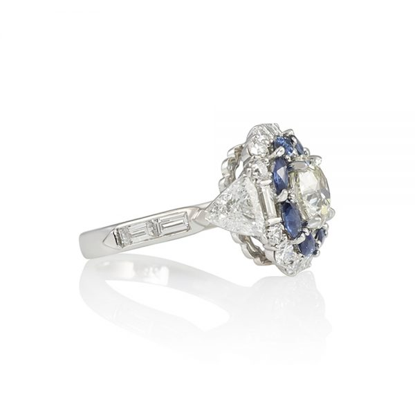 Exceptional Diamond Ring with Double Halo for Ann-2356