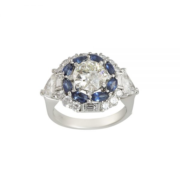 Exceptional Diamond Ring with Double Halo for Ann-2357