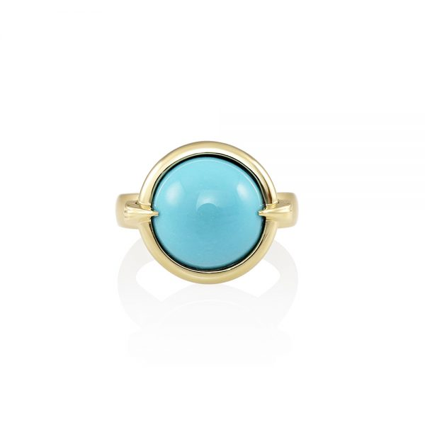 Blair Gold and Turquoise Ring-0