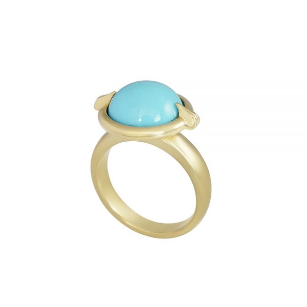 Blair Gold and Turquoise Ring-2260