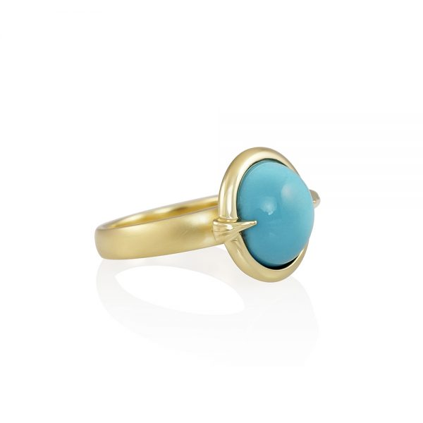 Blair Gold and Turquoise Ring-2261