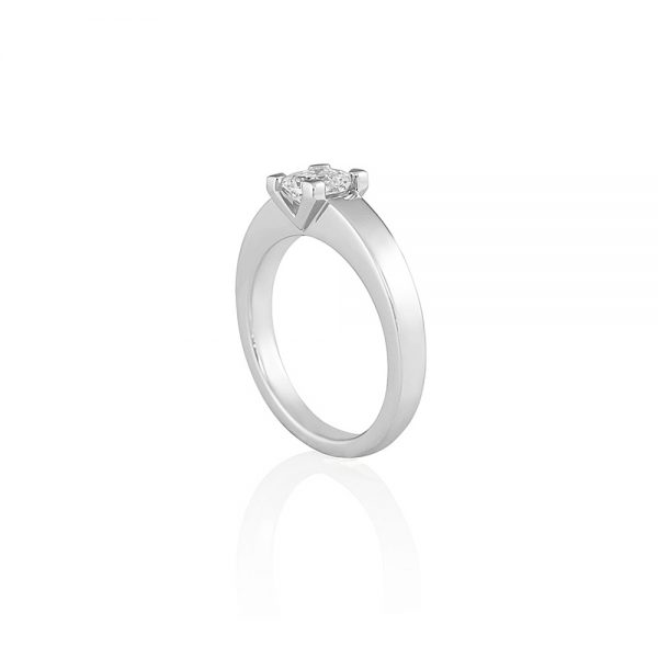 Britt V Asscher Cut Solitaire Engagement Ring-2282