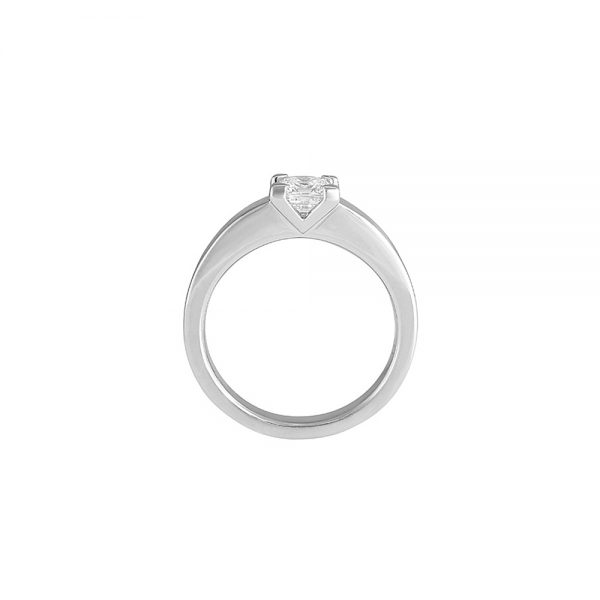 Britt V Asscher Cut Solitaire Engagement Ring-2283