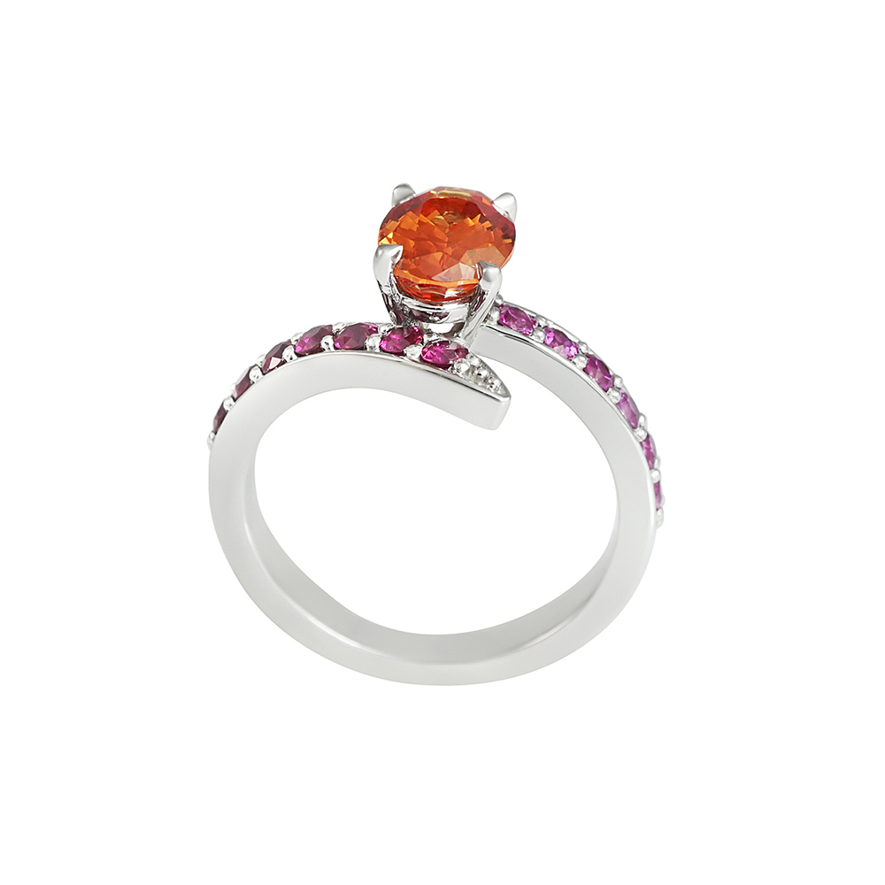 Candace Multi-Colored Sapphire Engagement Ring