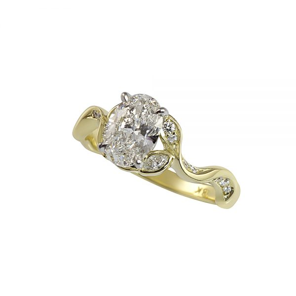 Vine Inspired Engagement Ring with Oval Diamond for Jamie-2354