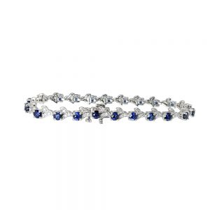 Sapphire and Diamond Bracelet for Katie-0