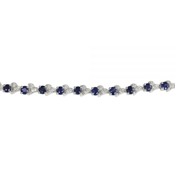 Sapphire and Diamond Bracelet for Katie-2340