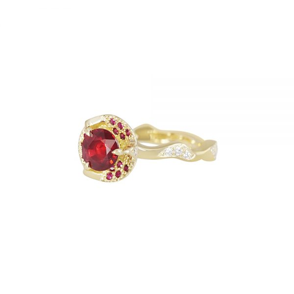 Ruby and Thorn Branch Engagement Ring for Francesca-2315