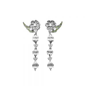 Marcy Flower and Leaf Drop Earrings-0