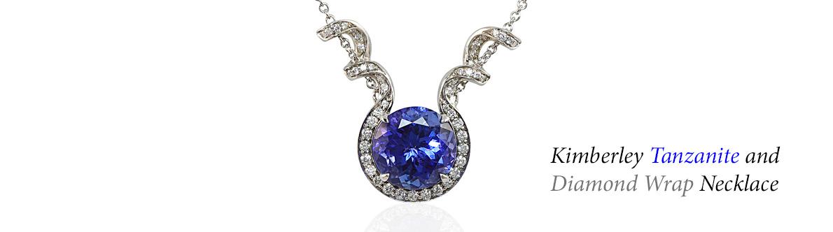 Kimberley Tanzanite and Diamond Wrap Necklace