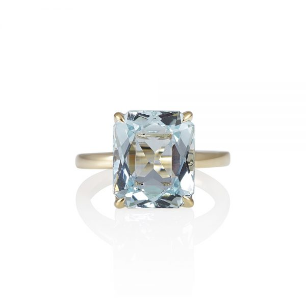 Aquamarine and Yellow Gold Ring for Christina-0