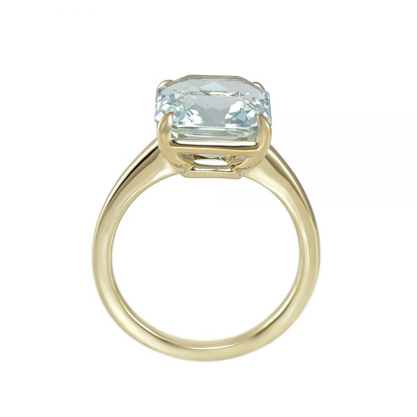 Aquamarine and Yellow Gold Ring for Christina-2174