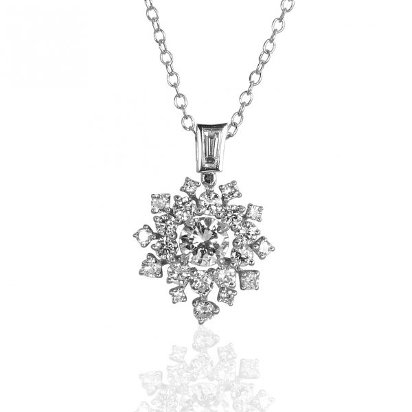 Diamond Snowflake Necklace for Denise-0